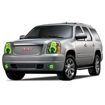 FLASHTECH for GMC Yukon 07-13 Green Single Color LED Halo Ring Headlight and Fog - $282.24