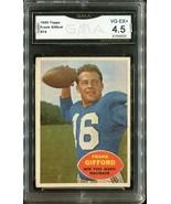 1960 Topps Football Frank Gifford #74 - New York Giants (GMA Graded VG-E... - $29.69