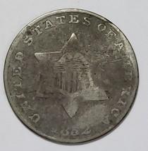 1852 3¢ 3CS THREE CENT SILVER COIN Lot# E 196