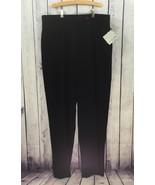 FOCUS 2000 Women's Black Pants Flat Front Slacks Trousers STRETCH Plus S... - $22.99