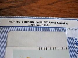 Microscale Decals #MC-4160 Southern Pacific 50' Speed Lettering Boxcars 1995 HO image 1
