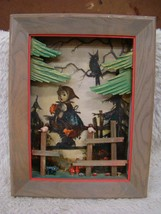 Vintage Hummel 3-D Shadow Box of Girl in Woods, Decorative Collectible - $14.80
