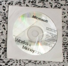 Microsoft Works & Money 2004 Disc Only - $9.89