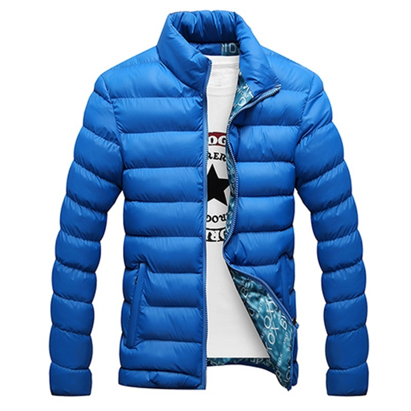 The Men Fashion Popular Bubble Coats Stand Collar Cotton Padded Jacket
