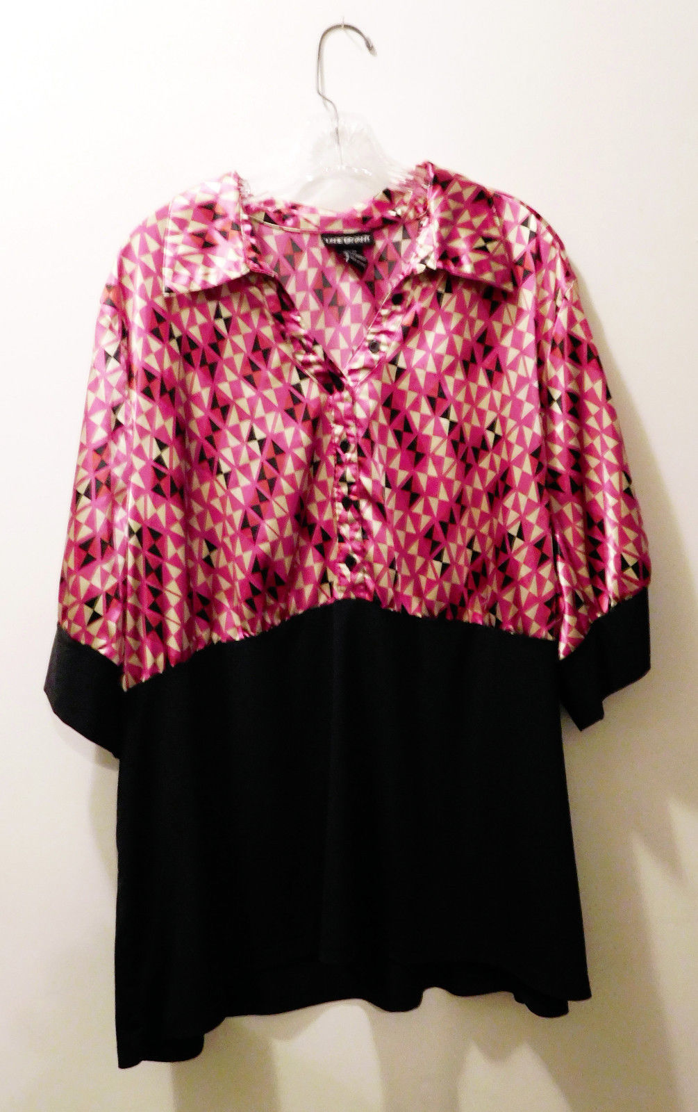 Primary image for Lane Bryant Geometric Print Combo Top 3/4 Length Sleeve Blouse -  Size 26/28