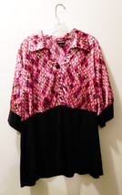 Lane Bryant Geometric Print Combo Top 3/4 Length Sleeve Blouse -  Size 2... - $12.73