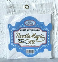 "Needle Magic Cross Stitch Fabric - White Aida 18 Count 100% Cotton 12"" x... - $4.70"