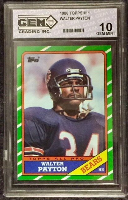 1986 Topps 11 Walter Payton Rookie And 50 Similar Items