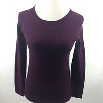 J Crew Womens Sweater Size XXS Crew Neck Long Sleeve Eggplant Wool Blend... - $37.07