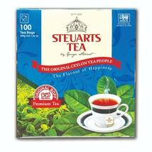 Steuarts ceylon bopf premium black tea 100%natural great aroma 100-tea bags - $18.00