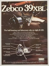 1976 Print Ad Zebco 39XBL Fishing Reels Made in Tulsa,Oklahoma - $11.56