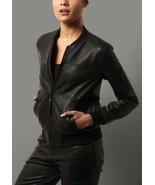 Women's Real Black Leather Bomber Jacket Flight men Lambskin Vintage Diwali - $120.62+
