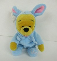 Disney Store Easter Bunny Winnie The Pooh Plush Bean Bag 8 Inch New w Tags - $12.61