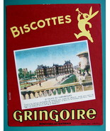 INK BLOTTER French AD: 1955 Biscottes Gringoire Wafer Biscuits Luxembour... - $4.05