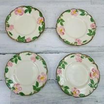 4 Franciscan Earthenware Desert Rose Bread Dessert Pie Plates California USA - $14.54