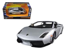"Lamborghini Gallardo LP 560-4 Silver \""Exotics\"" 1/24 Diecast Model Car by Maist - $34.56"