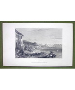 GERMANY Bergenz on Lake Constance - 1840s Antique Print Engraving - $11.10