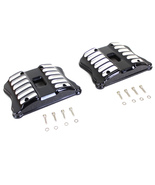 BLACK ACCENT XL ROCKER BOX COVER SET WITH MILLED GROVES FOR HD SPORTSTER 2004-UP - $271.25
