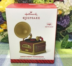Hallmark Santa's Merry Phonograph ornament 2014 - $21.75