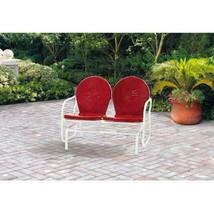 Mainstays Outdoor Retro Outdoor Metal Glider, Red, Seats 2 - $134.99