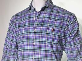 Polo Ralph Lauren men's size xxl long sleeve slim fit oxford  color purple  - $69.95