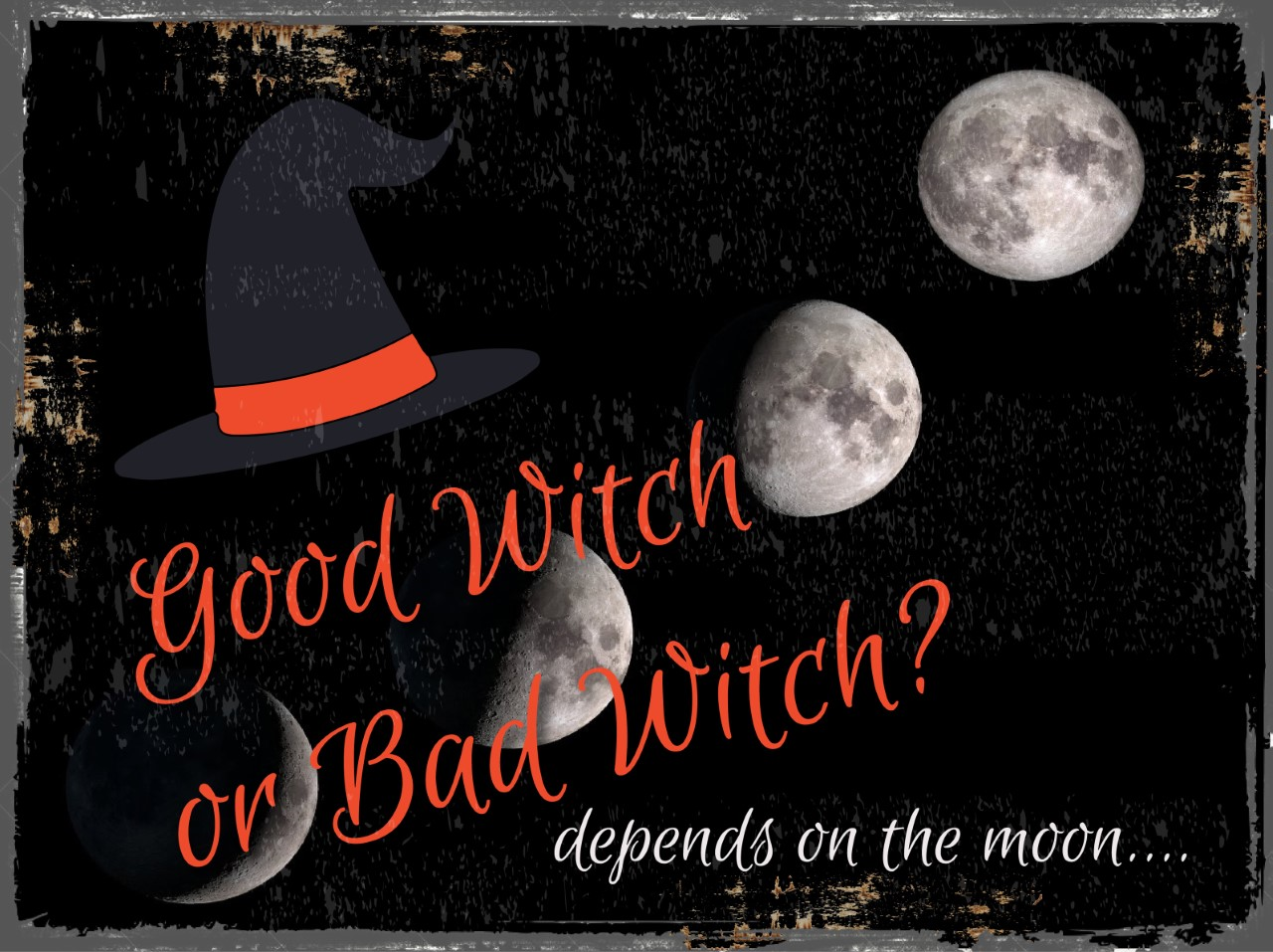 Good Witch or Bad Witch Halloween Metal Sign