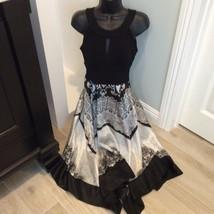 Sangria Black White Silky Bottom Dress 4 - $32.40