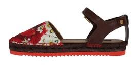 New $580 Dolce & Gabbana Women Floral Brocade Espadrilles Sandals US 8.5 EU 39 - $275.51