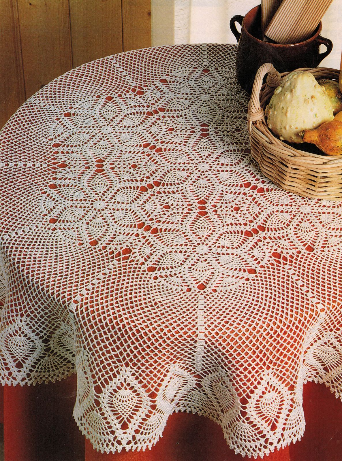 Quadrille Wall Hanging Rug Pillows Optical Illusion Table Topper Crochet Pattern image 4