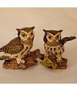 "Norleans Pair of Owls 5"" Tall Porcelain Japan Vintage 1970s - $19.99"