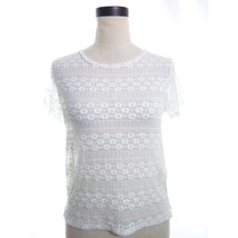 White Lace Crop Top Medium American Eagle Outfitters - $14.00