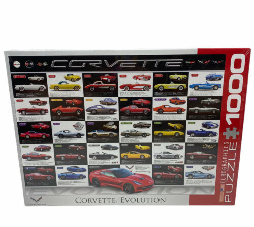 Eurographics Jigsaw Puzzle Corvette Evolution 1000 Pieces - New Sealed  - $16.82