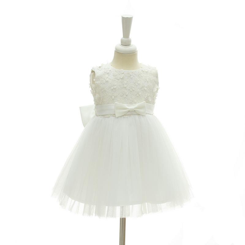 New Body Dress 0-24 Month Strapless White Flower Girl Dress Ball Gowns Short2018 image 4