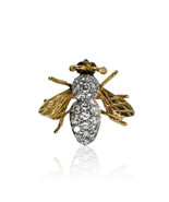 14K Yellow Gold Diamond Bee brooch, .50tdw, 3.2g - $595.00