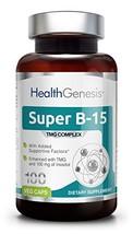 Super B-15 Pangamic Acid Complex 100 Vcaps - TMG | Healty Oxygen Levels | Energy - $29.25