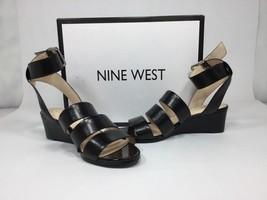 New Women's Nine West Black Open Toed Pumps Ankle Strap Leather Sz 6 - $38.69
