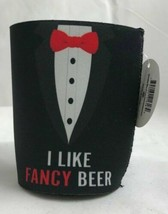 """Premium Insulated Can Cooler, """"I Like Fancy Beer"""" - $11.58"""