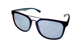 Perry Ellis Mens Sunglass Black Red Plastic Square, Solid Smoke Len PE84 2 - $17.99