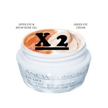 X 2 Avon Anew Clinical Eye Lift Dual Eye System - Upper Eye Gel+Under Ey... - $19.69
