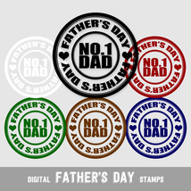 Digital Stamps Father's Day, No.1 Dad - Digital Clip Arts, CU4CU - $5.00