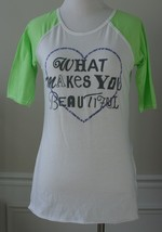 "dELia's ""What Makes You Beautiful"" Top with Lime Green 3/4 Sleeve Size M... - $8.90"