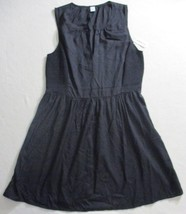 Women Dress Old Navy XL Black Open V Neck Sleeveless 18125 - $12.40