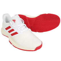 Adidas Game Court Wide Men's Tennis Shoes Sports Athletic White/Red EG2006 - £68.24 GBP