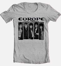 Europe T-shirt 1980's heavy metal rock concert retro 100% cotton graphic tee image 2