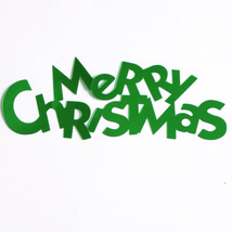 Word Merry Christmas Cutouts Plastic Shapes Confetti Die Cut FREE SHIPPING - $6.99