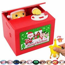 OLICTA Cute Stealing Coin Cat Money Box Bank Merry Christmas Stealing Mo... - $14.65