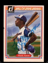 Hank Aaron Signed Autographed 1983 Donruss HOF Heroes Baseball Card - At... - $49.99