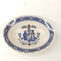 Vintage Johnson Brothers Hearts Flowers Serving Bowl Staffordshire Old Granite - $34.99