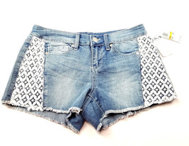 Seven7 Womens Jeans Shorts Size 7 Lace Detail NEW image 1
