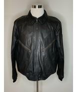 Polo Ralph Lauren Leather Moto Jacket Heavy Triumph Bomber Black Sz XL $... - $599.95